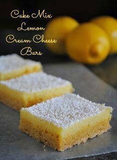 Cake Mix Lemon Cream Cheese Bars      www.You-Made-That.com