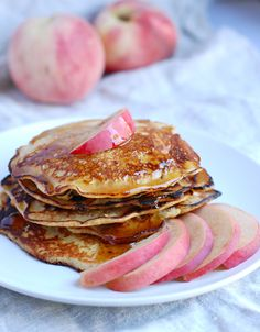Cinnamon Peach Quinoa Pancakes: A Wholesome, Gluten-Free Breakfast Treat from @babble