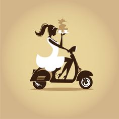 I could be as stylish as a retro girl on a Vespa carrying Verismo™ System made drinks! #itspossible