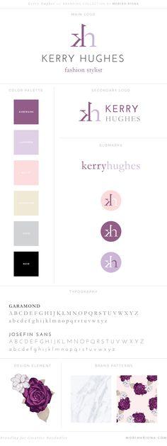 Moriah Riona | Colorado Springs Wedding Photographer and Graphic Designer | Logo & Branding Collection || Kerry HughesBrand Board for Fashion Stylist by Moriah Riona