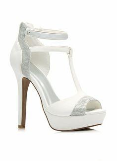 Glitter To The Top Platform Heels