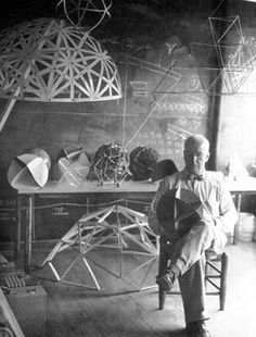 R.Buckminster Fuller developed the first of his famous geodesic domes in the late 1940s while teaching at Black Mountain College in Black Mountain, NC - near Asheville, NC