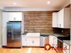 Laminate flooring on walls Pallet Backsplash, Kitchen Backsplash, Backsplash Ideas, Kitchen Paint, Kitchen Flooring, Diy Kitchen Island, Rustic Kitchen, Kitchen Ideas, Laminate Flooring On Walls