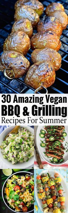 30 vegan BBQ and grilling recipes that will impress veggies and meat-eaters alike! Find some delicious grilling sides, vegan burgers, vegan salads, and more all in one place! #grilling #bbq #veganrecipes #vegangrilling