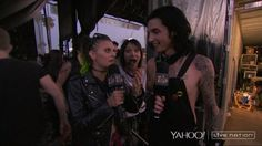 First day of Warped Tour! June 19, 2015!!!!! Ashley Purdy, Andy Biersack, and Juliet Simms.