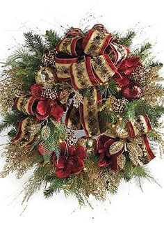 Featuring abundant ribbons and lifelike greenery, the Plaza Pre-decorated LED Cordless Wreath is a beautiful way to show your holiday spirit in your entry.