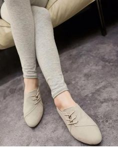 2017 New Spring Casual Women Shoes Women Nubuck Leather lace-Up Flat Shoes Handsome Head Toe Shoes(China) Macys Womens Shoes, Womens Flats, Keen Shoes, Flat Shoes, Cream Shoes, Latest Shoe Trends, Lace Up Flats, Leather And Lace, Casual Shoes