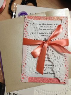coral bridal shower invitions   Coral bridal shower invitations