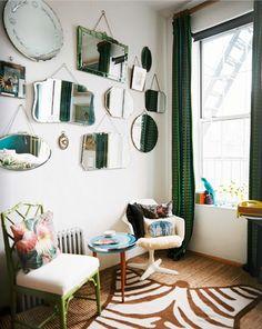 Espejos decorativos para habitaciones vintage