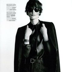 A for Androgynous // @voguerussia editorial featuring #LindaFarrow Aviator. 【Discover more at www.lindafarrow.com】