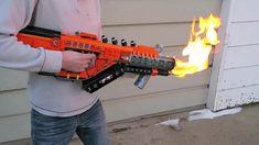 Youtube user ZaziNombies specializes in making video game weapons out of Legos, and he might have just crafted his finest replica yet. Using about 1,200 bricks, the Lego gunsmith built a three-foot replica of the Purifier flamethrower from Call of Duty: Black Ops 3.