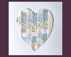 Patchwork Heart Textile Art Wedding Invitations or by RagRiches