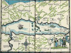 Literary Maps, Endpapers and Titlepages, Arthur Ramsome