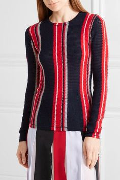 Gabriela Hearst - Lucan Striped Cashmere Sweater - Navy - medium