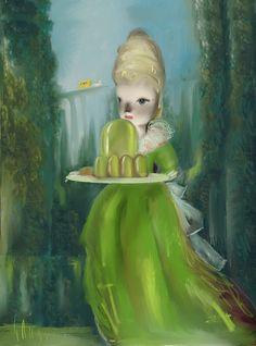 """Saatchi Art Artist: Catherine Denvir; Oil 2014 Painting """"Emerald Arcadia"""""""
