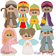 Winter Village~Nativity 1 SVG-MTC-PNG plus JPG Cut Out Sheet(s) Our sets also include clipart in these formats: PNG & JPG