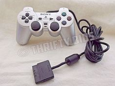 Genuine Sony PlayStation 2 PS2 SCPH-10010 Dualshock 2 Analog Controller Silver  #Sony