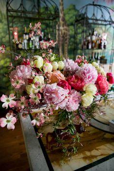 flowers in Ken Fulk's Kips Bay dining room