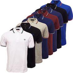 Fred Perry Polo Shirt Men Original Pique Standard Fit New Polo Shirt Outfits, Mens Polo T Shirts, Shirt Men, Polo Shirt Design, Polo Design, Camisa Polo, Polo Fashion, Man Fashion, Jackets