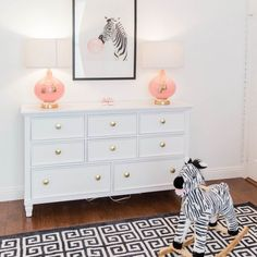 Black and White and Pink Nursery