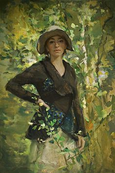 "Katelyn by Johanna Harmon Oil on Linen ~ 30"" H x 20"" W"