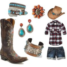 Pretty Cowgirl. Really want to get a cute pair of cowboy boots this year.