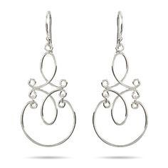Scroll Design Sterling Silver Dangle Earrings | Eve's Addiction&#0174