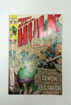 Incredible Hulk # 133, Marvel Comics Nov 1970 Dictator Draxon, Stan Lee, Hi-Gloss Cover, Original Owner