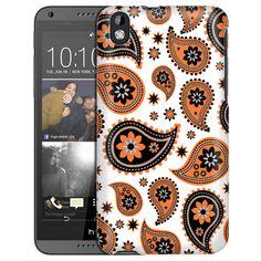 HTC Desire 816 Paisleys Cute Orange on White Slim Case