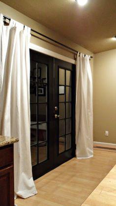 ideas for apartment patio curtains sliding glass door Patio Curtains, Sliding Glass Door, Sliding Doors, Glass Doors, Barn Doors, Front Doors, Interior Exterior, Interior Doors, Modern Exterior