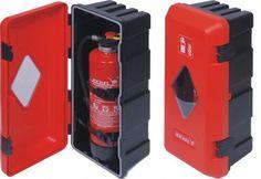 Stabile Box für #Feuerlöscher - geeignet für Wandmontage und LKW - Ober- und Unterteile aus schlagfestem Kunststoff - Staub- und Spritzwassergeschütz sowie wasserundurchlässig durch breiten Gummirand