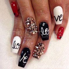 Easy Valentine S Day Nail Art Ideas Heartdeco Pinterest Nails