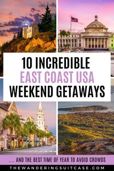 Live on the East Coast USA? This guide to East Coast vacation ideas is for you! Covering weekend getaways and romantic weekend getaways. Whether you live in New York City Boston or Miami weve got you covered. via The Wandering Suitcase Romantic Weekend Getaways, Romantic Vacations, Romantic Travel, Us Travel Destinations, Weekender, Voyage Week End, Vacation Spots, Vacation Ideas, Italy Vacation