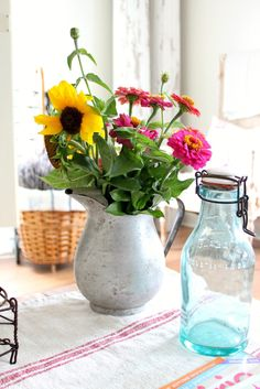 flowers / pitcher
