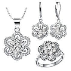 Virgin Shine Platinum Plated Rhinestones Geometry Flower Jewelry Sets White VIRGIN SHINE http://www.amazon.com/dp/B00QQK54WW/ref=cm_sw_r_pi_dp_JyCHub1G09NSA