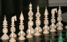 Samuel Pepys Large Ivory Chess Set