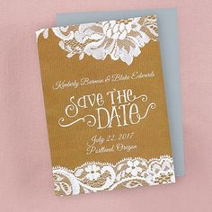 Swirls and Lace - Save the Date Magnet Follow @RegalWeddingsRH on Instagram and Pinterest!! #wedding #engaged