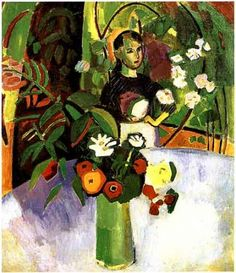 Raoul Dufy — Jeanne with Flowers, Raoul Dufy
