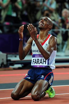 A couple of my favourite Mo-ments from the London 2012 Olympics so far. Mo Farah after winning the Mo Farah, Athletic Events, Sports Personality, Cross Country Running, Team Gb, Olympic Athletes, World Of Sports, Sports Stars, Summer Olympics