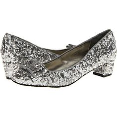 Sparkly and low heel