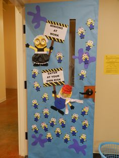 Minion Classroom Door Decoration. I want to do this for next year!!!