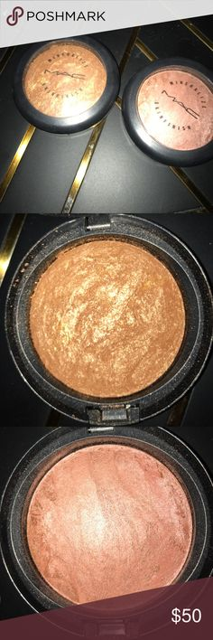 Mineralized Skin Finish Gold Deposit, Stereo Rose Two beautiful highlighters from MAC. Never used or swatched (: MAC Cosmetics Makeup Luminizer
