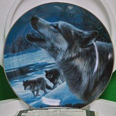 "1996 'Realm of the Wolf' Series Collector Plate, ""Evening Song"" By Kevin Daniel"