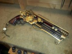 A steampunk rifle based on concept art from the game The Order 1886, modeled as fan art. Description from deviantart.com. I searched for this on bing.com/images