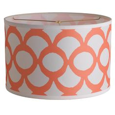 """Young House Love Scallop Print Drum Shade - 16"""""""