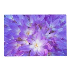Autumn Crocus Floral Placemat - diy cyo customize create your own personalize