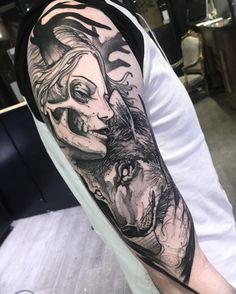 Resident artist - Bruno Santos @ Dublin Ink #tattoo #art #Dublin #Ireland Black And Grey Tattoos For Men, Black Tattoos, New Tattoos, Tattoos For Guys, Tattoos For Women, Cool Tattoos, Tatoos, Gothic Tattoo, Dark Tattoo