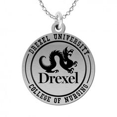 Drexel University Dragons Rings Stainless Steel 8MM Wide Ring Band Size 8.5