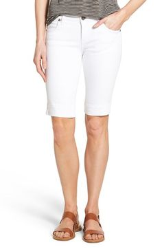 KUT from the Kloth 'Natalie' Stretch Denim Bermuda Shorts (Regular & Petite) available at - these look cute if they aren't too low cut. Cute Fashion, Fashion Looks, Womens Fashion, Fashion Ideas, Modest Shorts, Women's Shorts, Spring Outfits, Spring Clothes, Stretch Denim