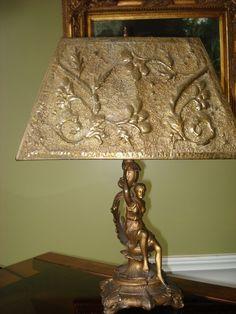 -Art Nouveau Figural Lamp Art Nouveau Furniture, Antique Lamps, Art Decor, Home Decor, Fashion Art, Curtains, Architecture, Antiques, Wallpaper